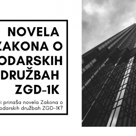 Novela zakona o gospodarskih družbah zgd-1k